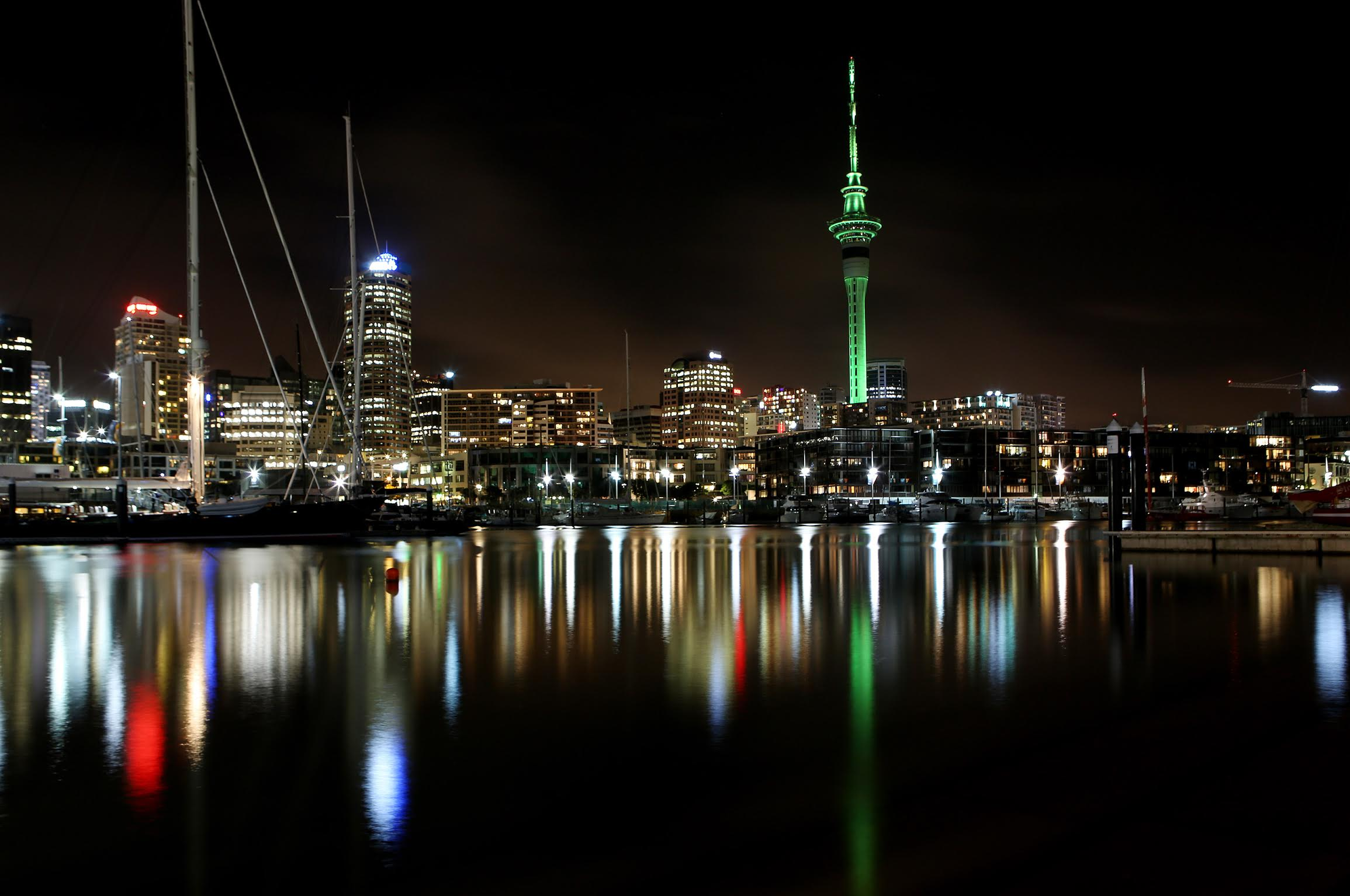 To mark the launch of the Climate Leaders Coalition, the Sky Tower will light green.